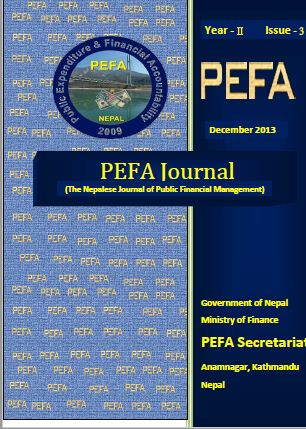 Article published on PEFA( Public Expenditure and Financial Accountability) Journal- 2013 December